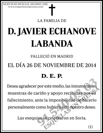 Javier Echanove Labanda